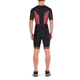 2XU Perform Full Zip Sleeved Trisuit Men black/kona team red